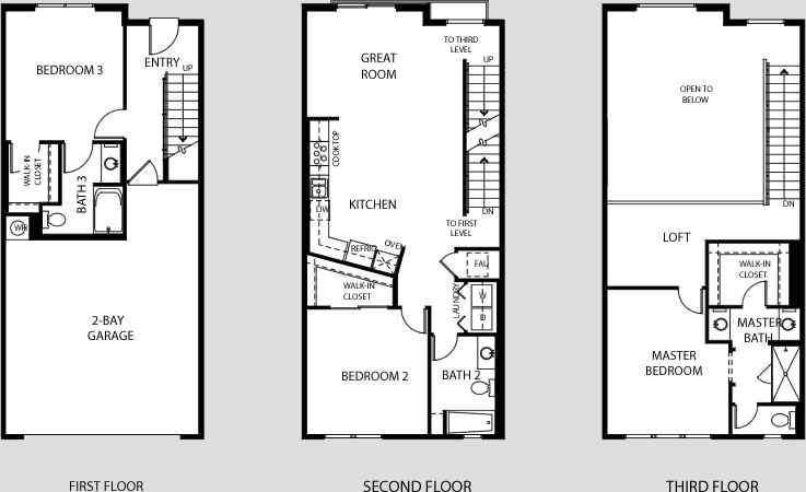 Central park west irvine ca flats lofts townhomes towers for Floor plans with lofts