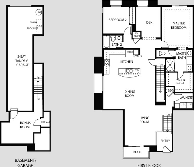 House floor plans with tandem garage for 3 car tandem garage house plans